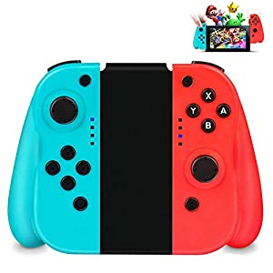 Wireless Controller für Nintendo Switch,Powcan 2er-Set Links Rechts Kabelloser Bluetooth Gamepad Controller,Mini Switch Controller Game Controller Gamepad Joypad Joystick Kompatibel mit Switch