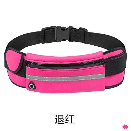 Multifunktionale Taille Tasche, Laufen Üben, Handtasche, Outdoor, Wasserdichte Multifunktions - wieder rot