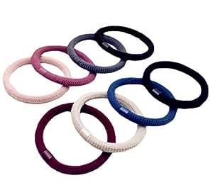 Leisial 10 Stück Haargummis Pferdeschwanzhalter Für Mädchen Kinder,Zufällige Farbe