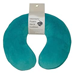 Motionperformance Essentials-Super Soft Velour Luxury Memory Foam Komfortable Hals Kissen Cushion (Reisen, Auto, Flugzeug, TV, Reading) (Teal Green)