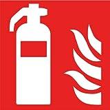 Intratec Brandschutzzeichen Feuerlöscher Sicherheitsschild Warnschild 150x150mm aus Aluminium langnachleuchtend Betriebsausstattung