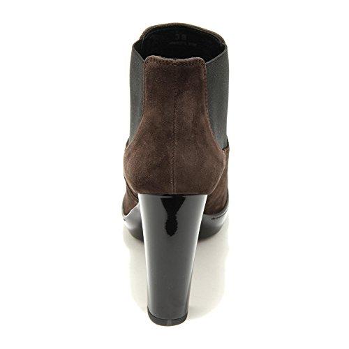 4816G stivaletto donna HOGAN opty 188 marrone scarpa stivale boot woman testa di moro