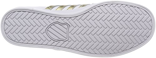 K-swiss Belmont So, Sneaker Donna Bianco (blanc / Or)