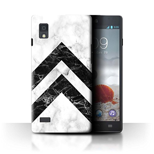 Stuff4® custodia/cover/Skin/lgfl CC/Marble Pattern geometrici Collection Monochrome Chevrons LG Optimus L9/P760