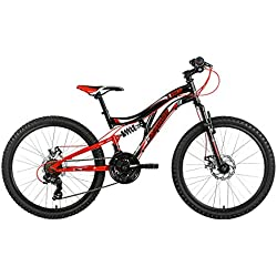 KS Cycling 131K Vélo Mixte Enfant, Noir