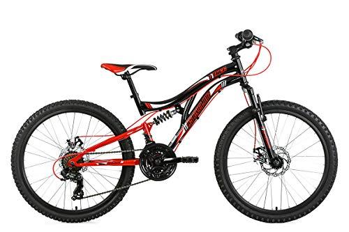 KS Cycling Mountainbike Fully 24\'\' Nice schwarz-rot RH43cm