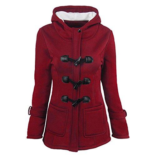 XWXW Giacche Per La Donna Con Cappuccio Cappotto Invernale Cotone,Dalla S Alla 6Xl Red