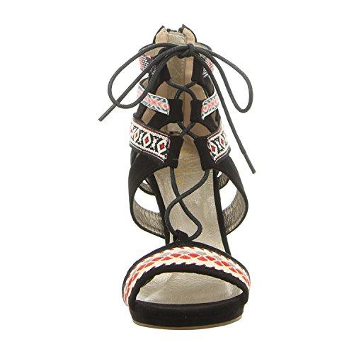 BULLBOXER  059011f2t Bkmc, Sandales pour femme multi color/black