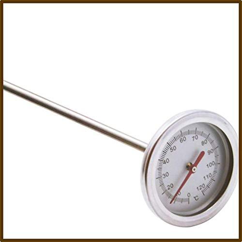 Fantasyworld 20 Pouces 50cm Longueur 0 ℃ -120 ℃ Compost Sol Thermomètre Haut de Gamme des Aliments de Mesure Détecteur de sonde en métal en Acier Inoxydable de qualité