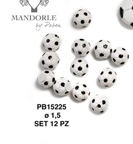 48 pezzi pallone calcio in resina da 1.5 cm decorazione bomboniera