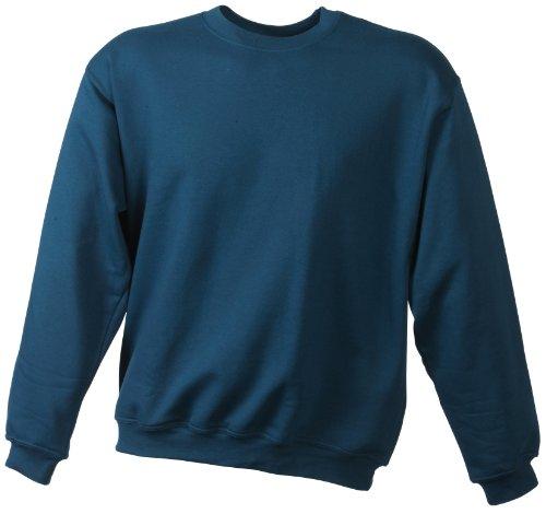 James & Nicholson - Sweatshirt Round Heavy, Felpa Uomo, Verde (petrol), Small (Taglia Produttore: Small)