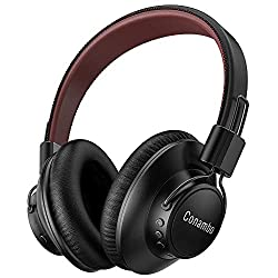 Noise Canceling Headphone, Bluetooth Earphone Over Ear with Enhanced CVC6.0 Dual Mic, 30 Hours Playtime, Foldable for Travel, Work