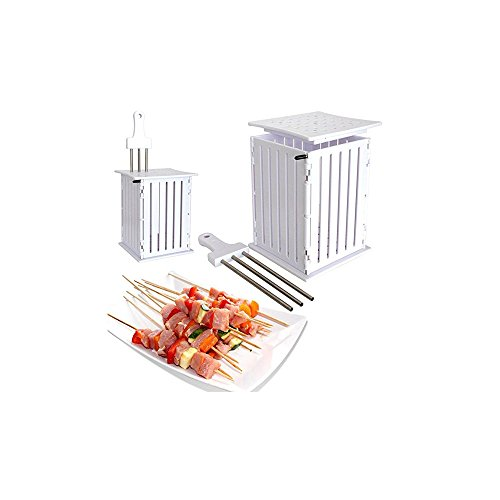 Spiedini di carne di manzo con spiedini di carne di kebab spiedini multi-funzione non danneggiano le mani rapidamente rendono deliziosa la griglia/ambientale/veloce/sicura(81 strings)