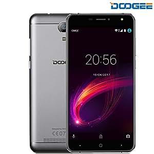 Smartphone in Offerta, DOOGEE X7 Pro Dual SIM Android 6.0 Telefonia Mobile - 4G Telefoni Cellulari - 6.0 Pollici HD IPS Schermo - 3700mAh con 2GB RAM+16GB ROM - 8.0MP Fotocamera Digitale e OTG - Argento