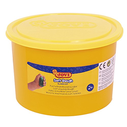 Jovi - Soft Dough Blandiver, Bote de 460 g, Color Amarillo flúor (46004F)