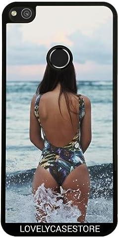 Coque pour Huawei P8 Lite 2017 - Maillot Bain Femme Plage Vague Nageur Jolie