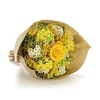 Bouquet Garden-Sanremo flores secas de la Riviera dei Fiori Italia con rosa preservado. (Amarillo)