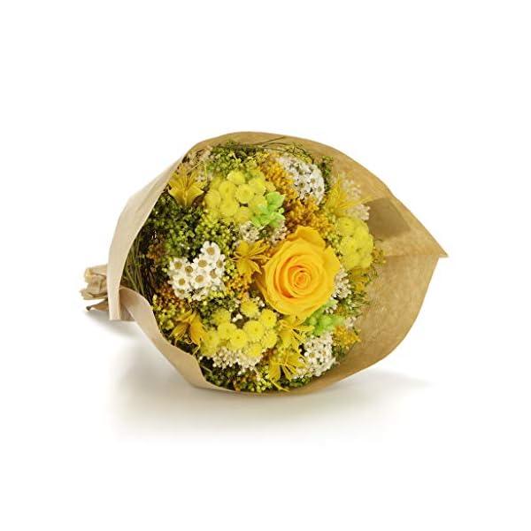 Bouquet Garden-Sanremo flores secas de la Riviera dei Fiori Italia con rosa preservado. (Milka)