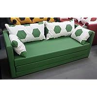 Preisvergleich für Schlafsofa 2-sitzer XL weiss grün