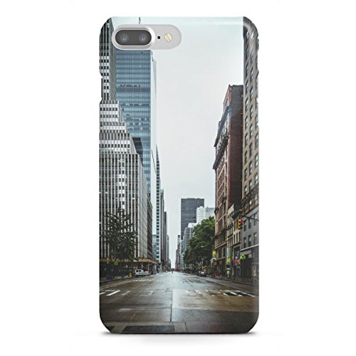 artboxONE Apple iPhone 7 Plus Premium-Case Handyhülle Empty Streets in New York von Thomas Richter