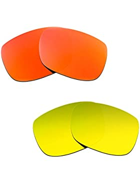 Hkuco Plus Mens Replacement Lenses For Oakley TwoFace Red/24K Gold Sunglasses