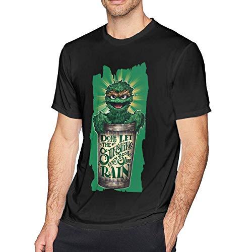 AOCCK Sportbekleidung Herren Kurzarmshirt, Mens Funny Elmo T-Shirt Black (Shirt Junior-elmo)