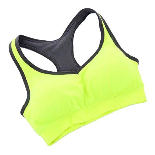 Biancheria Intima Di Esercizio Del Reggiseno Sportivo In Esecuzione Fitness Yoga Yellow