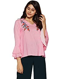 DJ&C By fbb Women's Striped Regular Fit Shirt