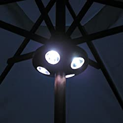 1 X 16 Led Parasol Garden Light Patio Table Gazebo BBq Outdoor Summer Lamp Battery