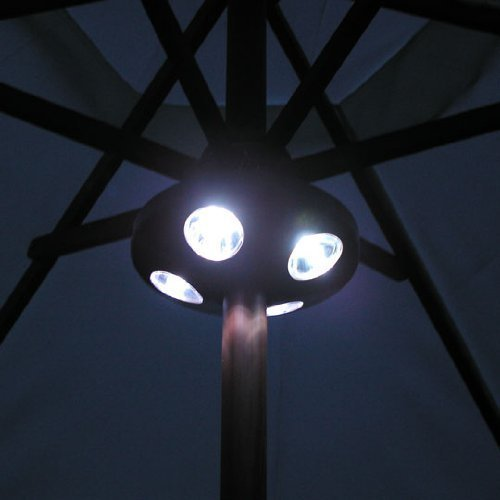 1 X 16 Led Parasol Garden Light Patio Table Gazebo BBq Outdoor Summer Lamp Battery