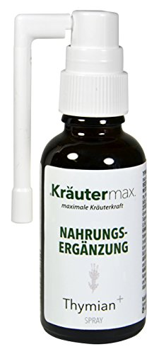 Husten Medizin (Thymian-Spray 1 x 30 ml - auch Husten-Spray - Thymian-Extrakt - Thymian-Flüssig - Mit Thymianblatt-Extrakt, Propolis, Kamille, Wegrauke - 24 % vol.)