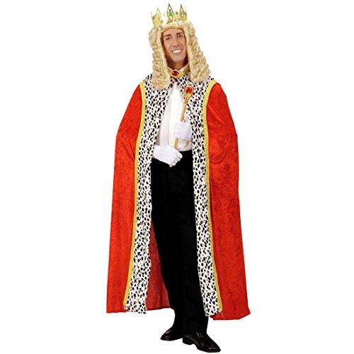 NET TOYS König Mantel Königsmantel Königsrobe Königin Samtmantel Samt Robe Umhang Kostüm Zubehör Fasching Karneval