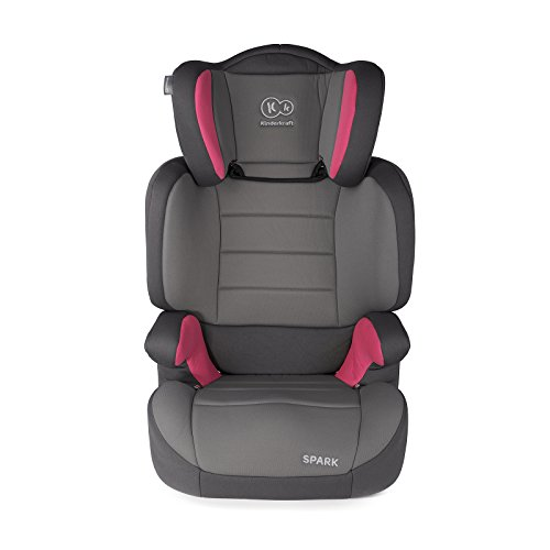 Kinderkraft Spark UP Kinderautositz Kindersitz Autokindersitz 15 bis 36 kg Gruppe 2 3 (Rosa)