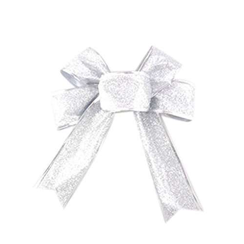 QHGstore Princess Glitter Metallic Band für Tanz Cheerleader Haar Bögen Geschenkverpackung (Cheerleader Dekorationen)