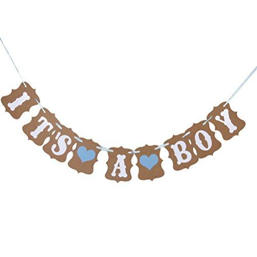 Pixnor È un ragazzo amore cuore carta decorazione partito Bunting Garland Banner