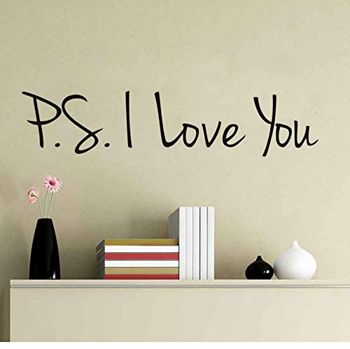ZOUYUN Adesivo murale I Love You Quotazioni Stickers murali Romantico Creative Art Rimovibile Adesivi murali in PVC Autoadesivo Home Decor Camera da Letto Fai da Te Wall Art 131 * 29 Cm