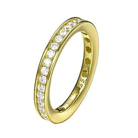 Joop! Damen-Ring 925 Silber Zirkonia weiß Rundschliff Gr. 55 (17.5) - JPRG90788B170