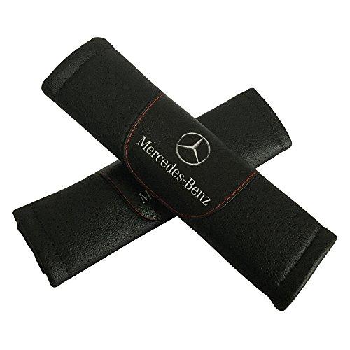 2Set Mercedes Benz Auto Sitz Sicherheitsgurt umfasst die Leder Schulter Pad Zubehör Passform für Mercedes Benz Auto Modell