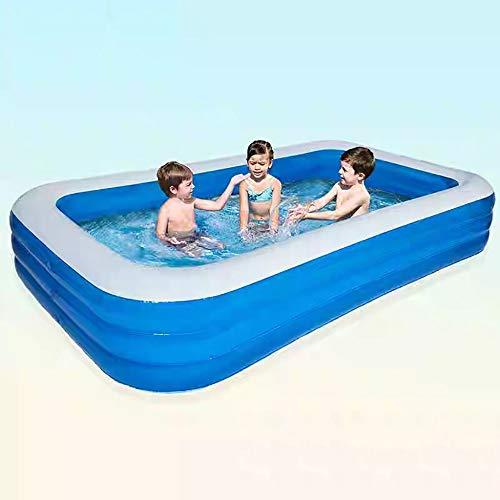 YIRUN Piscina Extra Grande Infantil Adult Inflatable Pool For Summer Party Azul Ideal para Niños/Adulto Incluye Tapón De Drenaje Gruesa Y Duradera,210×150×60cm/6.88×4.92×1.96ft