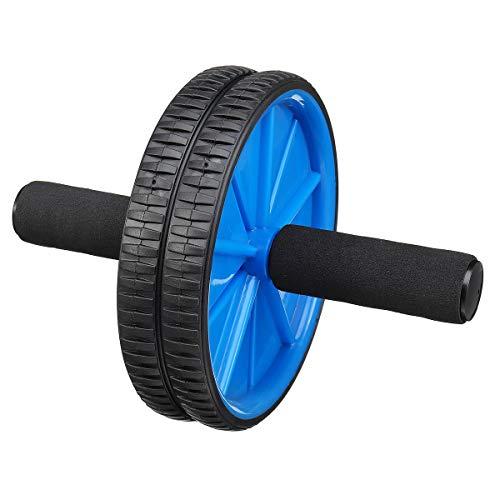 TuToy Body Fitness Dual Wheel Abdominal Training Roller Home Gym Arm Waist Exerciser Gym Exercise Tools - blau