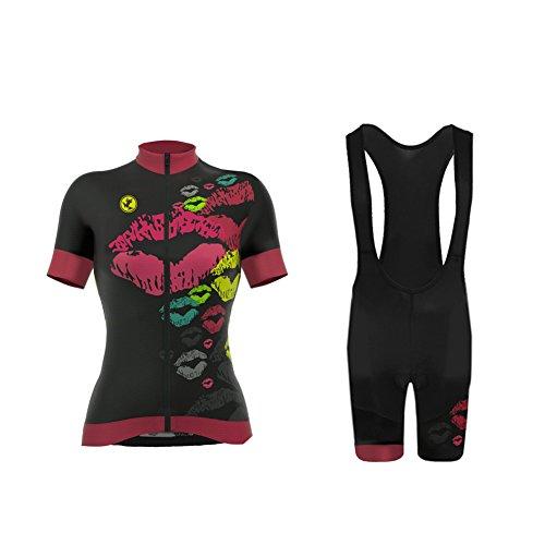 Uglyfrog Winter Fahrradbekleidung Damen Lang Set Fleece Thermische Radtrikot 3D Gepolsterte Hosen BMC -