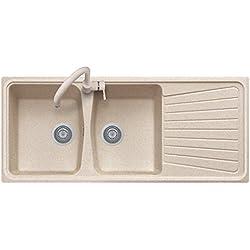 Plados - Spazio 116.20 - Évierà deux vasques et égouttoir à vaisselle