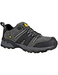 Amblers Safety Mens FS188n Leather Safety Trainers Grey