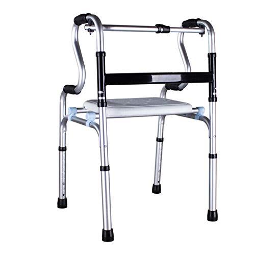Peixia walker, passeggino pieghevole per anziani a quattro zampe, attrezzatura per allenamento riabilitativo, corrimano per wc, può essere dotato di ruote con bastone da passeggio ausiliario
