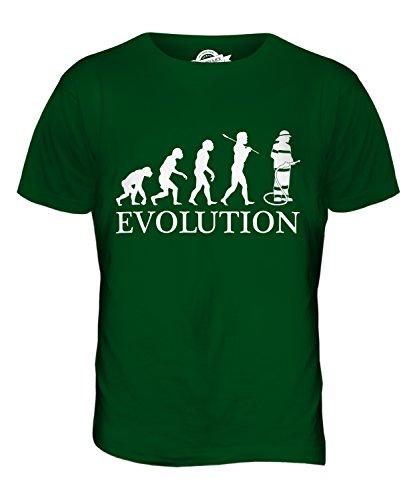 CandyMix Feuerwehrmann Evolution Des Menschen Herren T Shirt Flaschengrün