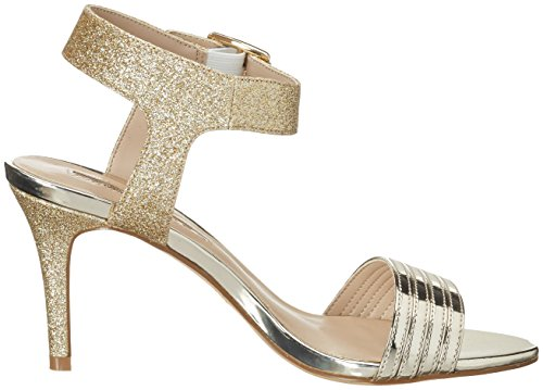 Buffalo David Bitton 14s23-12 Metallic Pu Glitter, Sandales Bout Ouvert Femme Or (Gold 24)