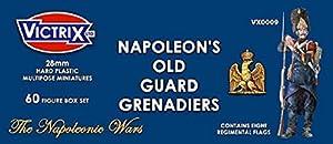 Victrix VX0009 - Grenadiers De La Vieille Garde Française De Napoléon - Ensemble De 60 figurines Avec Drapeaux - Miniatures En Plastique De 28 mm Napoléoniennes