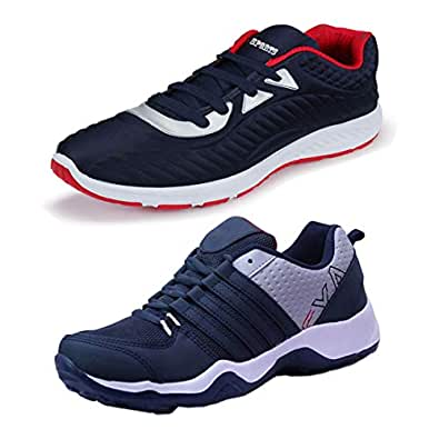Bersache Men's Multicolor Combo Pack of 2 and Elegant Casual Wear Canvas Running Shoes(Size -6)