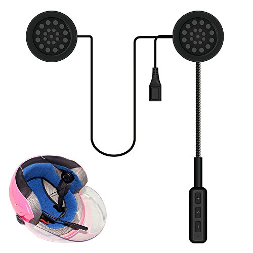 lzndeal Casque de Moto Casque Bluetooth Intercom Casque Casque sans Fil