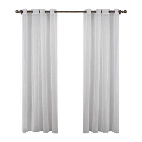HJJHJ Moderne Minimalistische Schlafzimmer Wohnzimmer Veranda Vorhänge Translucent Balkon Druck Vorhänge Set 2, White, 140 * 240cm